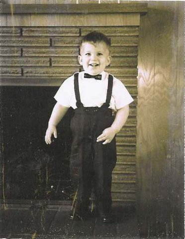 This is a black and white picture of Daniel Koger at age 3.  The picture was taken in 1966 in Corvallis Oregon.